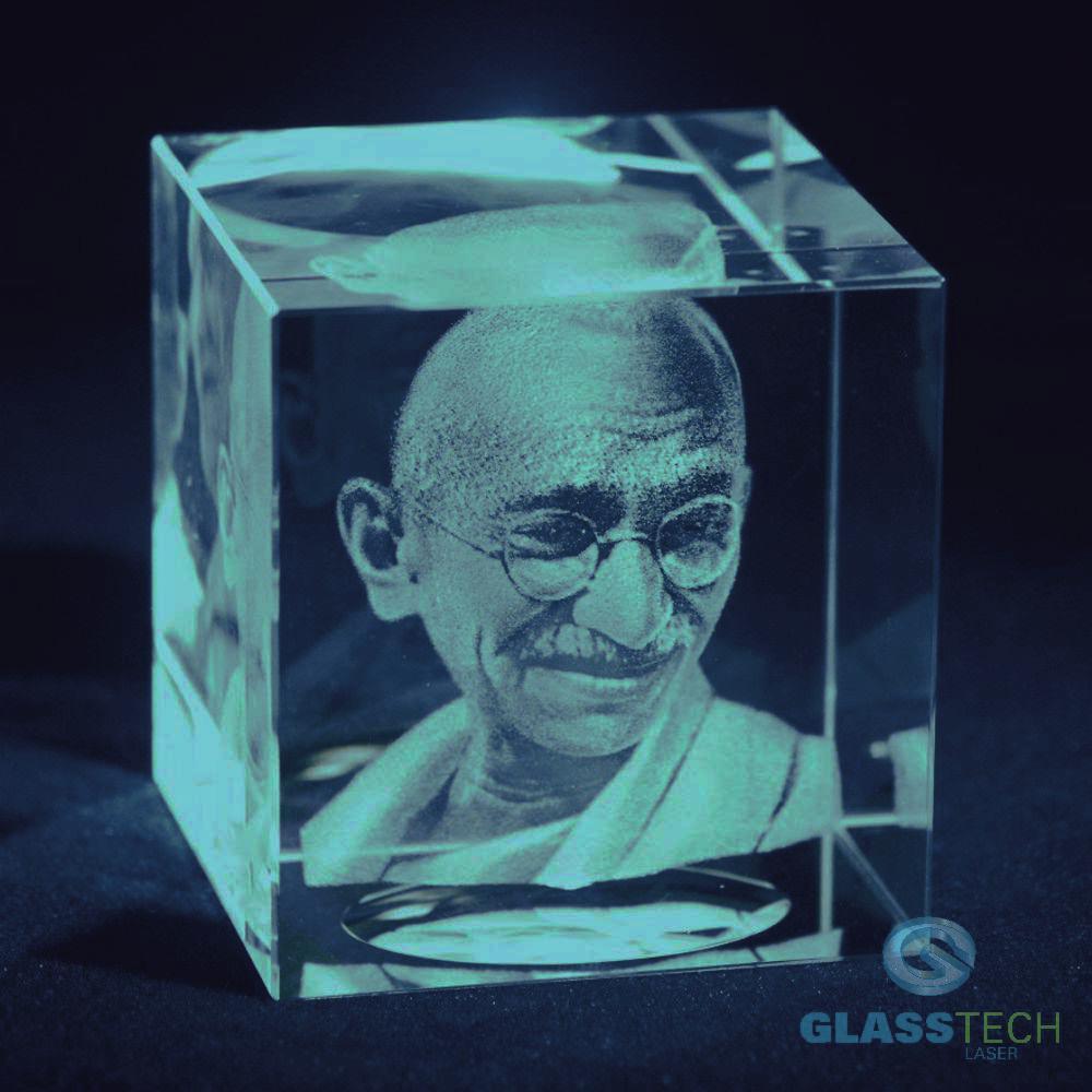 5f6a67ea2 Mahátma Gándhí empty. Cena obsahuje 3D laser portrétu ...
